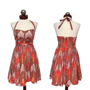 GUESS retro inspired pinup halter dress 2